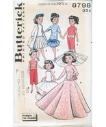 "Butterick 8798 UNCUT Sewing Pattern for 10.5"" High Heeled Dolls Original! - $27.99"