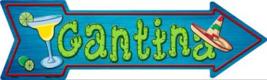 "Cantina Novelty Metal Arrow Sign 17"" x 5"" Wall Decor - DS - $21.95"