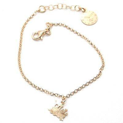 Silver Bracelet 925 Laminated in Rose Gold le Favole Little Train AG-901-BR-41