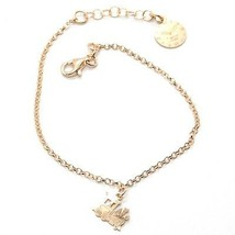 Silver Bracelet 925 Laminated in Rose Gold le Favole Little Train AG-901-BR-41 image 1