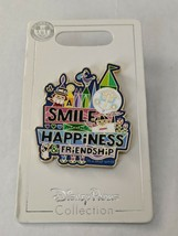 It's A Small World A Smile Means Happiness & Friendship Disney Pin Trading - $14.84