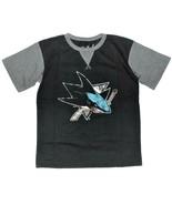 NHL Majestic Boys San Jose Sharks T-Shirt Hockey Size Large 14-16 NWT - $16.48
