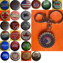 Constellation sign Aquarius Coke Sprite Diet pepsi & more Soda beer cap Keychain