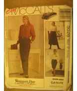 UNCUT Pattern 1991 EASY McCall SIZE 12 14 16 SKIRT Pants 5026 [Z25] - $4.51
