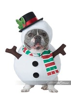 California Costumes Snowman Pet Dog Animal Christmas Xmas Costume PET20154 - £18.31 GBP