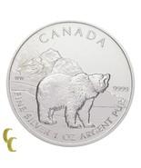 2011 Canada 1 Oz. Silver Grizzly Bear 5 Dollars Brilliant Uncirculated - $818,45 MXN