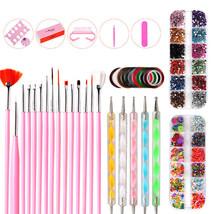 Nail Pen Designer Nail Art Accessories Kit Brushes Decoration Rhinestone... - $14.18