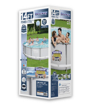 "Bestway Power Steel 14' x 42"" Frame Swimming Pool Set - Ready to Ship image 8"