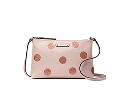 NWT Kate Spade Haven Lane Ramey Plum Dawn Pink/Glitter Dots Crossbody Bag - £76.11 GBP