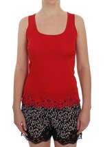 Red Silk Stretch Camisole Lingerie Blouse - $149.40
