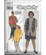 Simplicity 9673 Full Figure Sizes 18w-24w Tops Pants Shorts Vests Casual... - $10.00