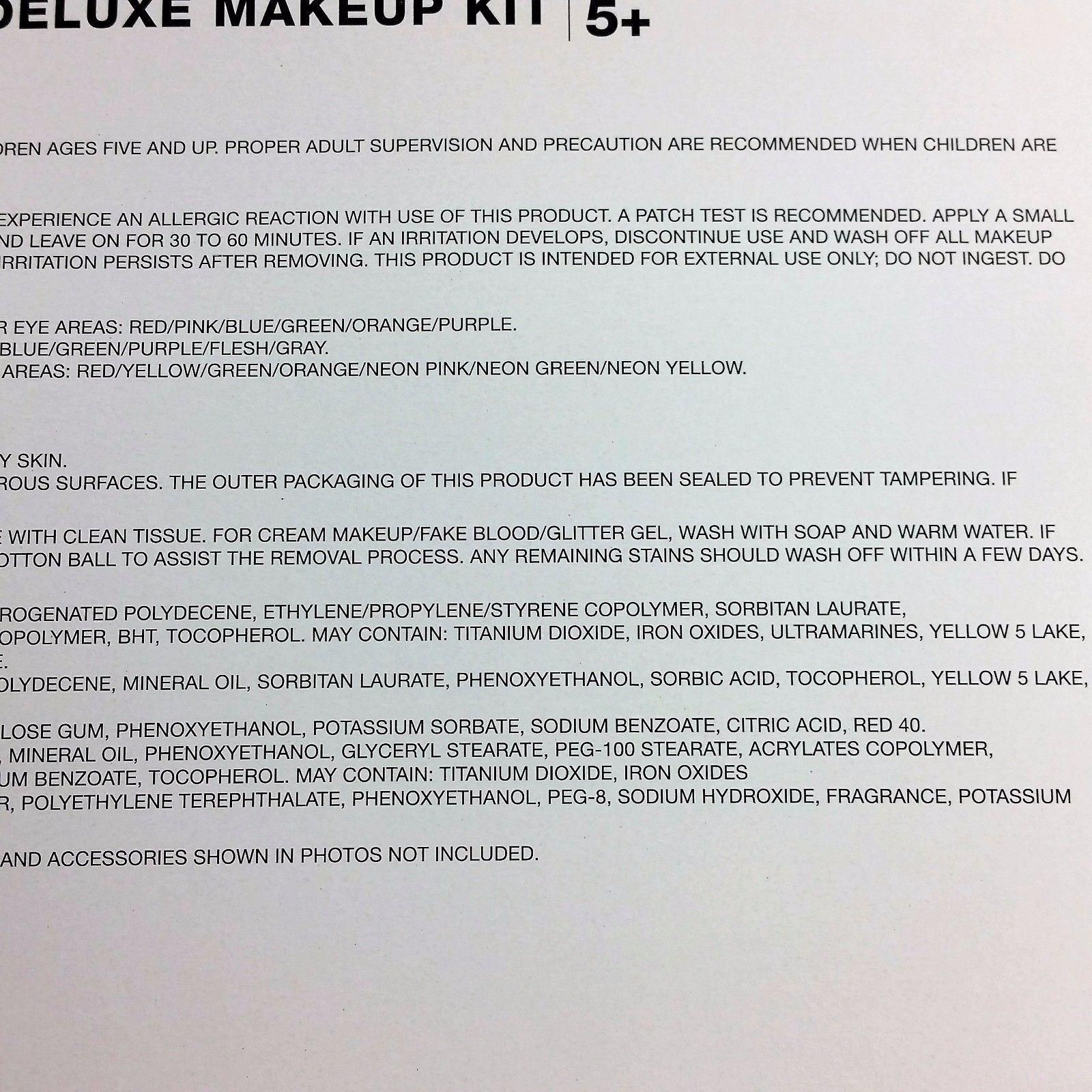 Deluxe Makeup Kit Costume Grease Makeup Halloween Glitter Gel Blood Spooky