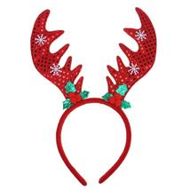 (Red)Girls Antlers Headband Cute Deer Horn Hairbands Christmas Accessori... - $14.00