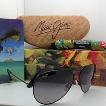 Polarized Maui Jim Titanium Sunglasses Mavericks Gs 264-02 Black Frame Grey Lens - $299.95