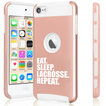 For Apple iPod Touch 5th 6th Shockproof Hard Case Eat Sleep Lacrosse Repeat - $14.99