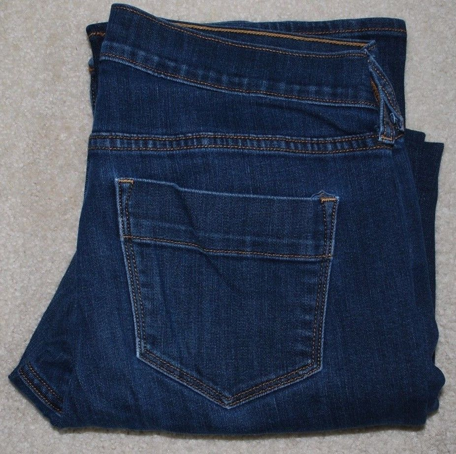 Primary image for Old Navy Sweetheart Jeans Ladies 8 Short Petite Stretch Dark Denim Bootcut 8S