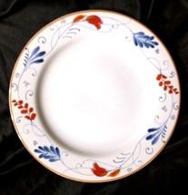 "Gorham Kathy Ireland Home Spanish Botanica 11"" Dinner Plate~ White Blue ... - $7.90"