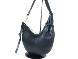 Auth SALVATORE FERRAGAMO Gancini Leather Black Shoulder Bag FS14154L - $149.00