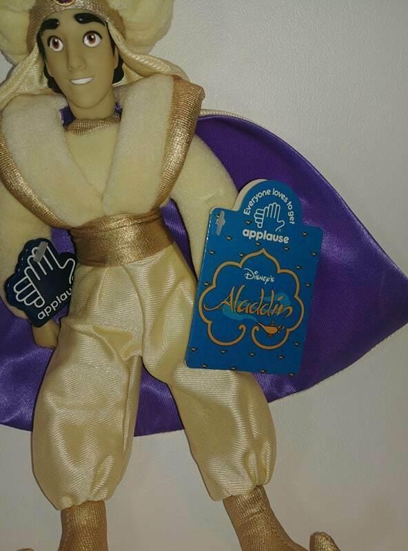 "Vintage Applause Disney Aladdin Prince Ali 11"" Vinyl and Plush Doll Figure w/tag"