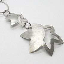 Necklace Silver 925, Chain Circles, Double Flower, Sun Hanging, Satin image 3
