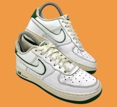 NIKE 2011 Air Force 1 (GS) Big Kids Sneakers Sz 4Y White-Gorge Green 314192-153 - $39.55