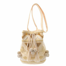 Disney STORE ACCOMMODE Mickey Mouse Shoulder Bag Knapsack Ivory Pochette - $153.45