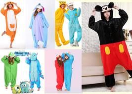 New Unisex Adult Anime Costume Pajamas Kigurumi Animal Cosplay Onesie1 Sleepwear - $15.99