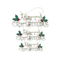 (size L)Merry Christmas Hanging Ornaments Crafts Merry Christmas Letter ... - $14.00