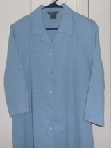 Koret Womens Large Button Front Short Sleeve Shirt with Shoulder Pads - $17.96