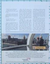 2001 British Airways Holidays - London Print Ad - $9.50