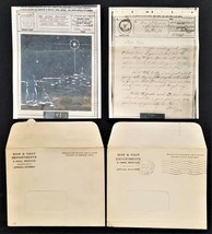 1940s antique V-MAIL lot BRUNER chester pa WWII LETTER CHRISTMAS CARD - $47.50