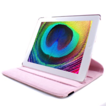 NEW! GMYLETM Pink 360 Degree Rotating Swivel PU Leather Magnetic Wake Up Sleep!! - $14.84