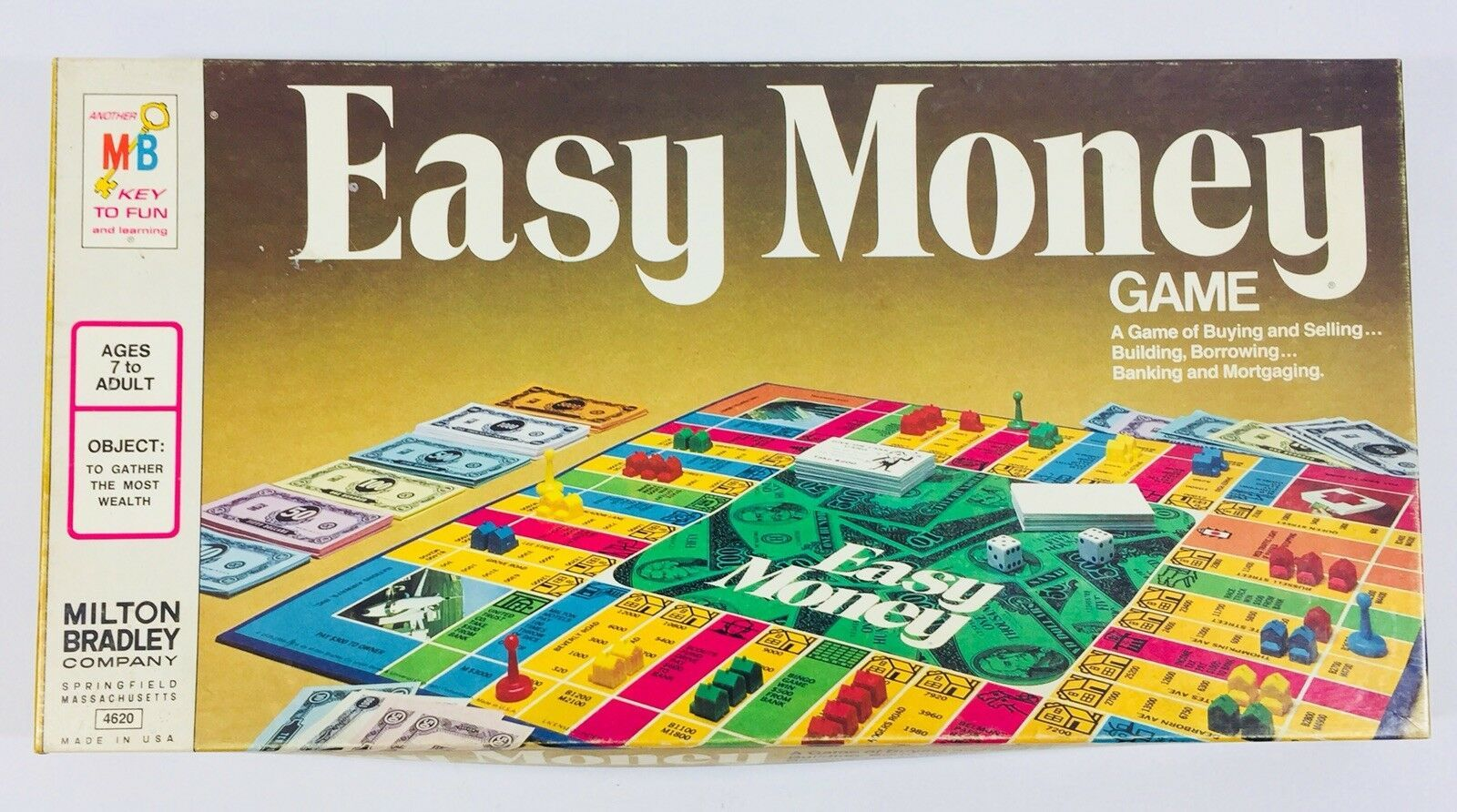 Vintage 1974 Milton Bradley Easy Money Board Game Sealed Pieces Unused EUC