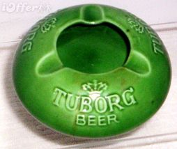 SCANDINAVIAN(DANISH) MODERN-NYMOLLE TUBORG BEER ASHTRAY - $12.45