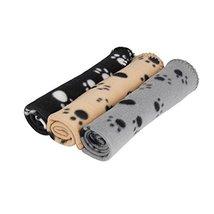 3 x Large Dog Cat Pet Soft Fleece Blankets By DIGIFLEX - $11.99