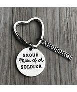 Proud Air Force Mom Keychain, Custom Military Airforce Mom Key Ring, Gif... - $11.99
