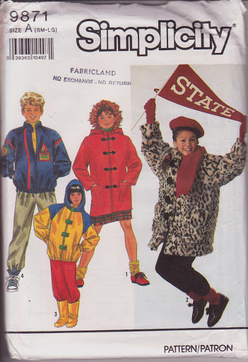 5f2dc10a8952 Vintage 1990, Simplicity 9871, Boys Girls and similar items