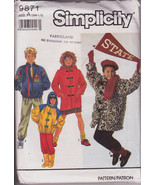 Vintage 1990, Simplicity 9871, Boys Girls Child, Lined Jackets, Mid Thig... - $10.00
