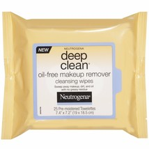 Neutrogena Deep Clean Oil-Free Makeup Remover Cleansing Wipes, 25 Count - $10.19