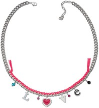 Swarovski 1160551 Silver With Pink Love Serenade Dangling Chain Necklace - $34.90