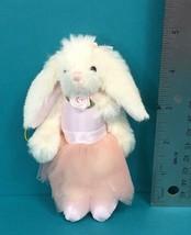 "Bearington Collection Bunny Ballerina Pink Dress 5"" Plush Christmas Orna... - $8.95"