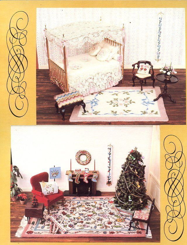 Miniature Heirlooms Book I Doll Cross Stitch Pattern RARE -30 Days To Shop & Pay
