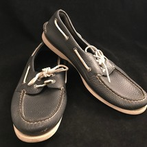 Sider 13M Boat Size Leather Mens Original Top Shoes Sperry Navy Blue Authentic XZxP5cw