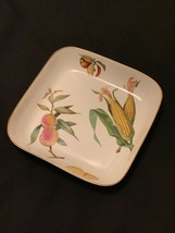 Royal Worcester Evesham Gold Square Buffet Dish (corn, lemon, apple, peaches) - $30.00