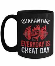 PixiDoodle Foodie Fitness Coach Pandemic Gift Coffee Mug (15 oz, Black) - $22.99
