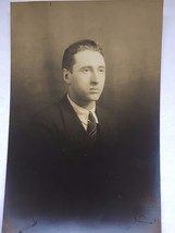 Vintage 1920's Photograph Young Man Suit Studio 21449 Professional  - $13.99