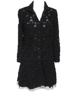 CHANEL Cardigan Knit Sweater 2pc Floral Camellia Lace Button Long Sleeve... - $1,914.25