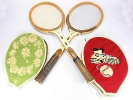 2 Vintage Wilson JACK KRAMER Pro Staff Tennis Rackets w/ covers - $57.87