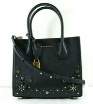 Michael Kors NWOT Navy Blue Leather Small Shoulder Handbag Flower Embell... - $118.79
