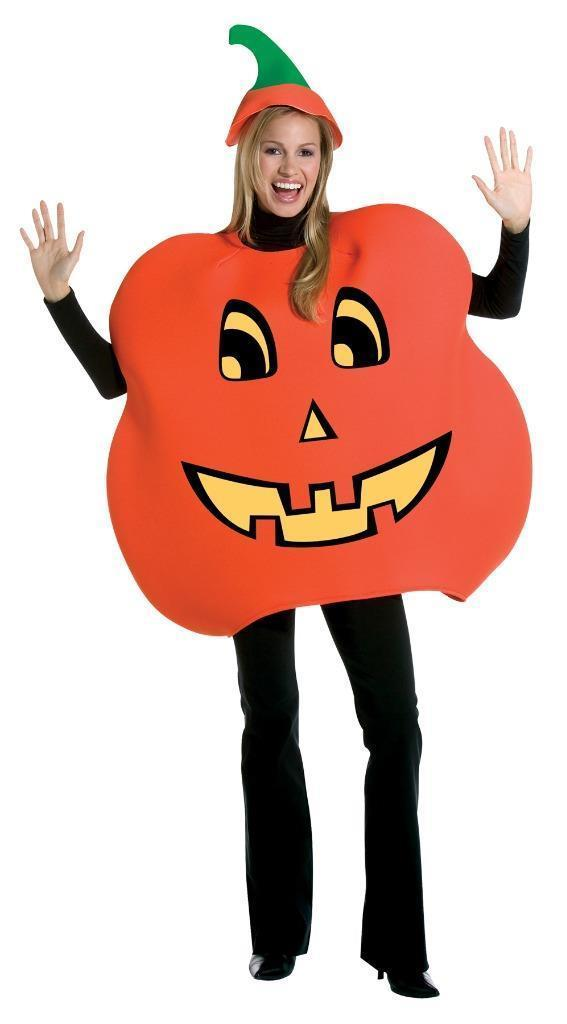 Pumpkin Costume Adult Jack-o-Lantern Men Women Halloween Party One Size GC7094